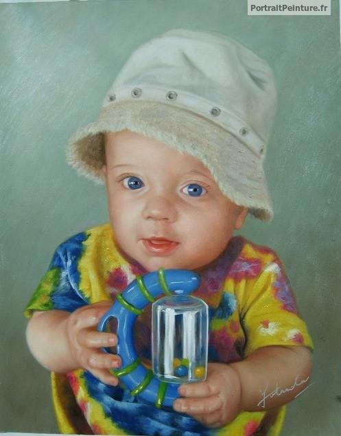 portrait-bebe-peinture