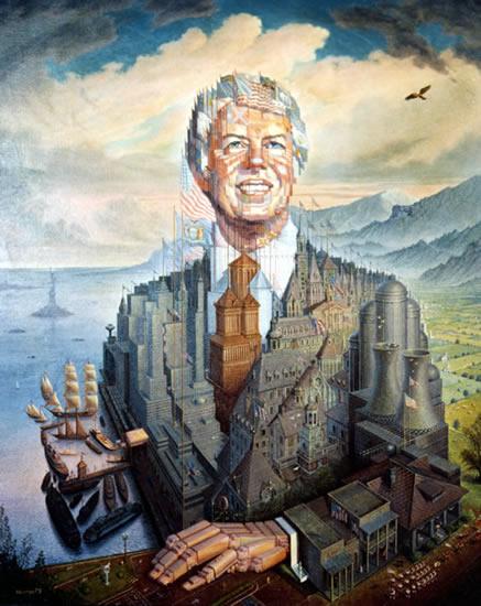 Peinture d'Octavio Ocampo, Jimmy Carter