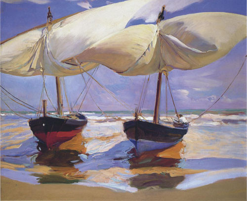 Joaquin-sorolla-bateaux-échoues