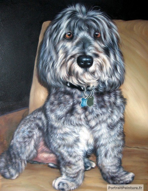 peinture-huile-chien-animal