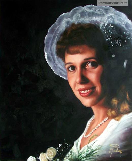 Sehr Portrait de femme, peinture de femme, idée cadeau amie - Portrait  TH77