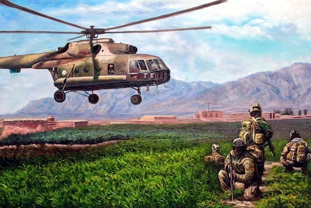 portrait-peinture-militaire-apres-photo-helicoptere