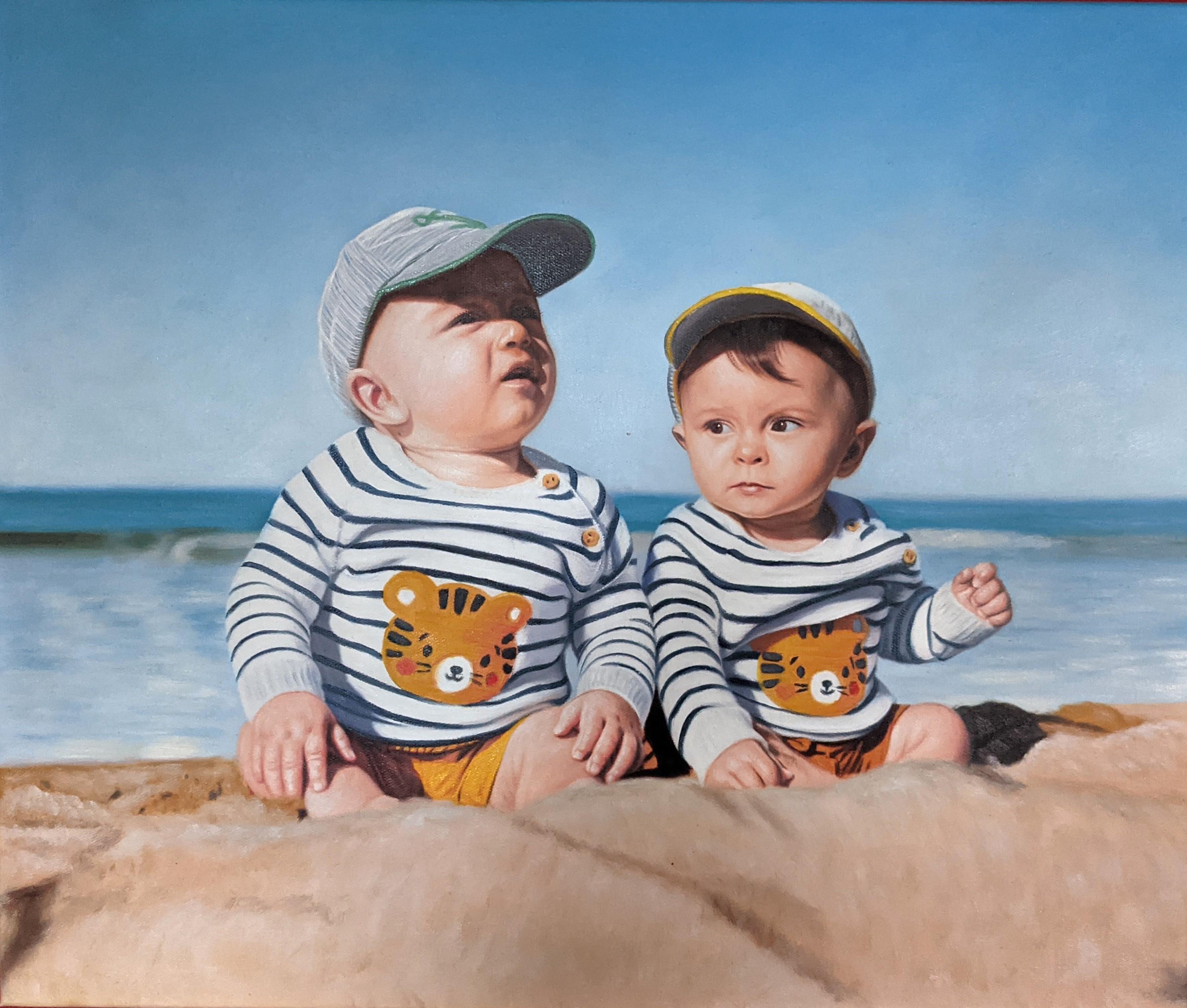 peinture-enfant-fillette-portrait