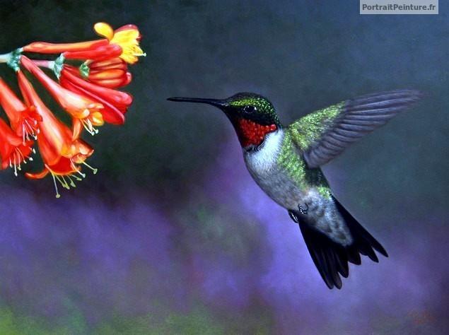 peinture-huile-oiseau