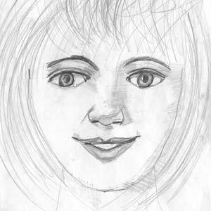 Akiane Kramarik, croquis à 4 ans, the smile