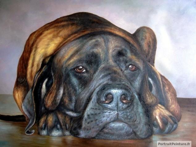 portrait-chien-peinture-huile