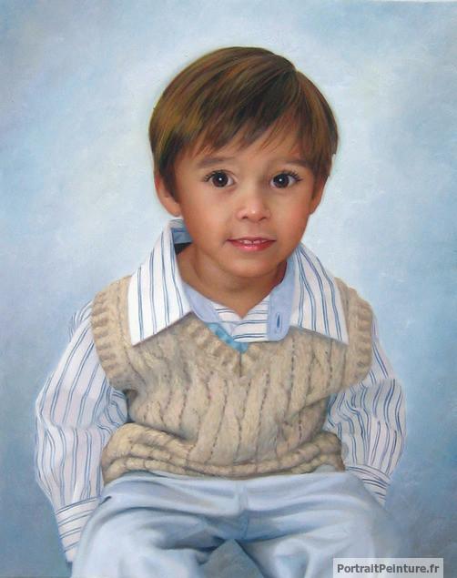 portrait-enfant-peinture-huile