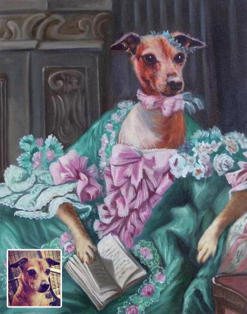 peinture-poncelet-chien