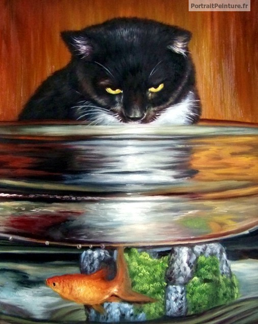 peinture-chat-poisson-animal