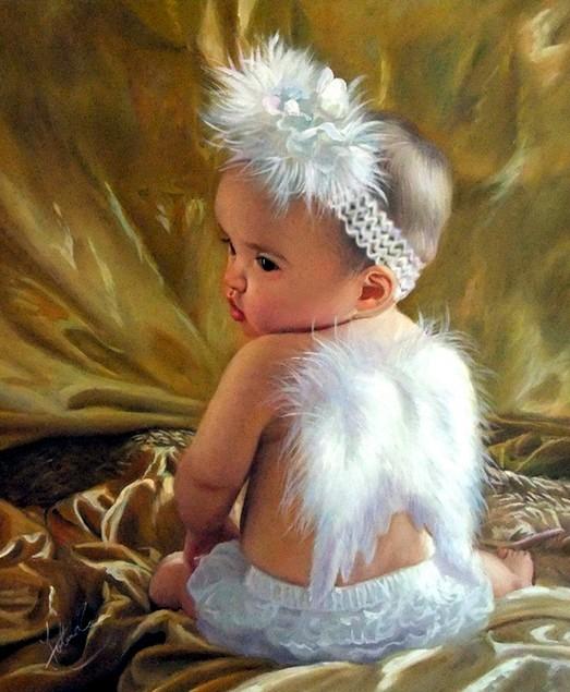 peinture-portrait-decesperte-d-un-bebe-enfant