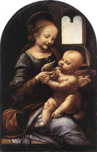 Leonard-de-Vinci-La-madonna-Benois