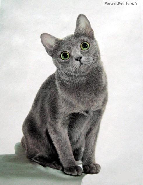 portrait-peinture-huile-chat