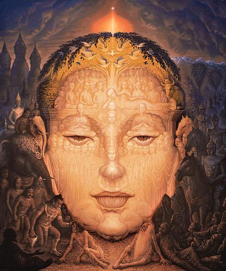 Peinture d'Octavio Ocampo, Buddha