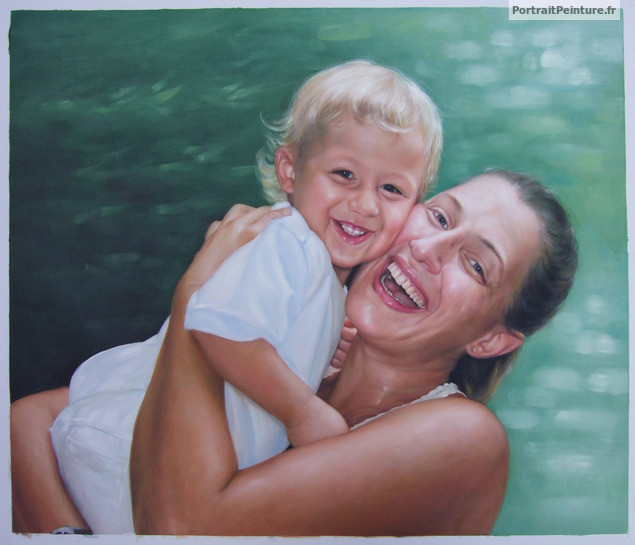 peinture-avec-bebe-maman-bras