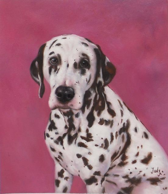 peinture-huile-chien