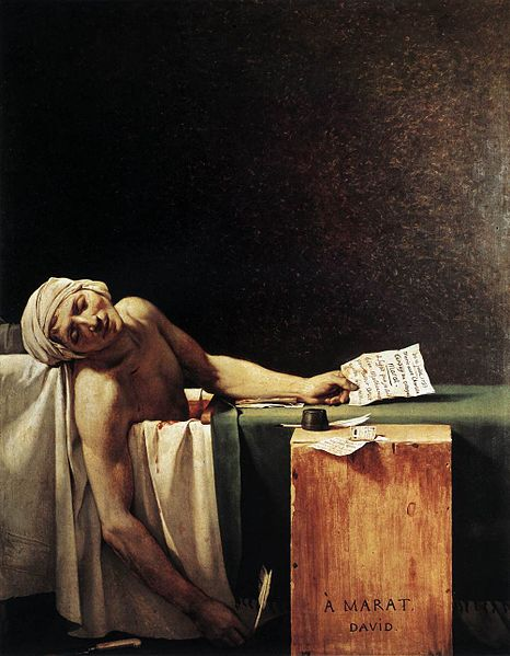 Peinture de Jacques Louis David : Marat assassiné, 1793