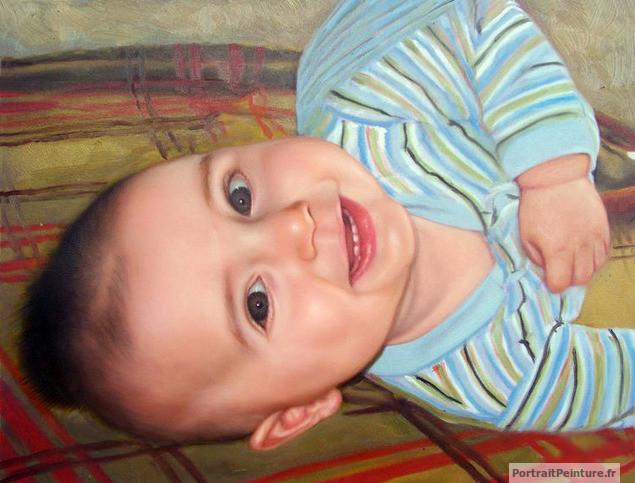 peinture-bebe-huile-portrait