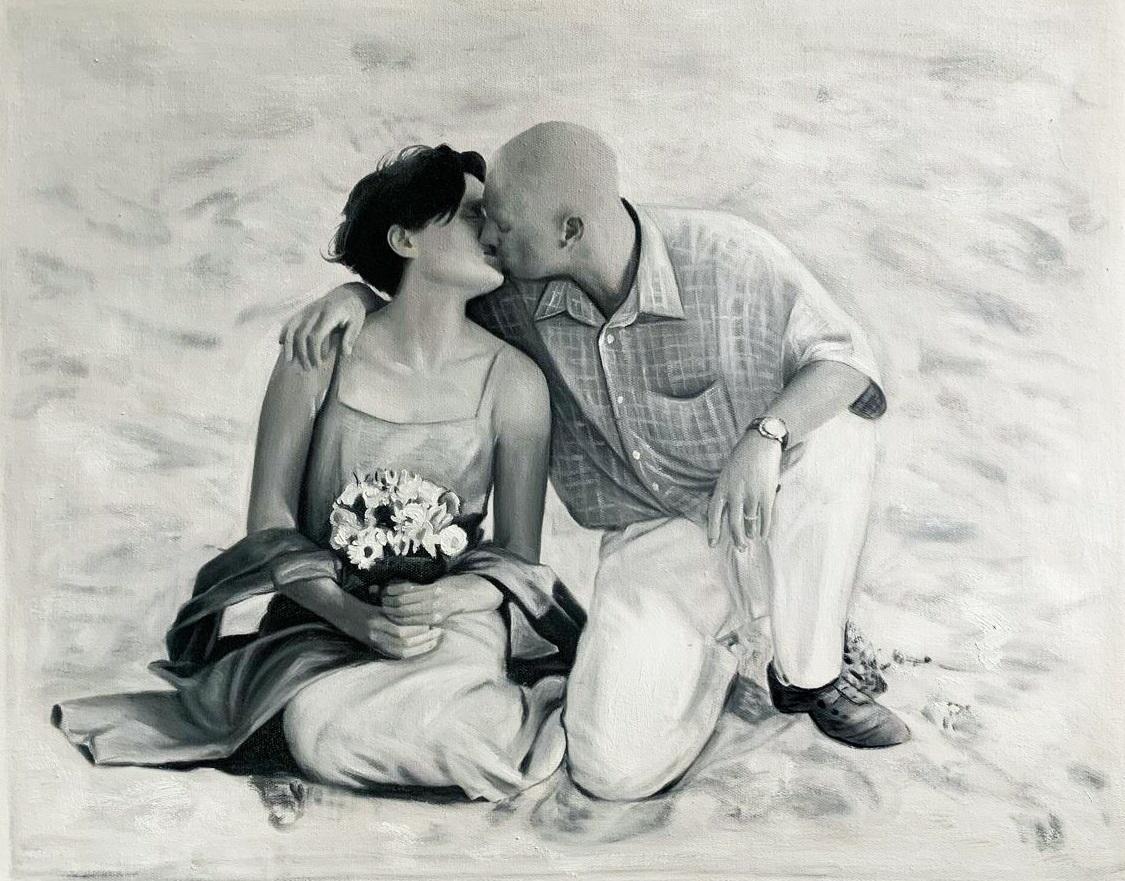 peinture-couple-d-apres-photo