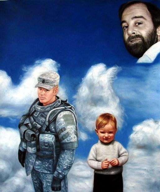 portrait-peinture-deces-militaire-mort