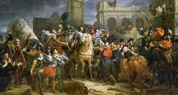 L'Entrée de Henri IV à Paris, par François Gérard. Peinture de Francois Gérard de 1817