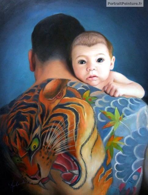 peinture-photo-famille-apres-photo