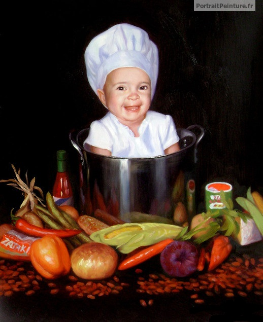 Peinture d'enfant atypique, original