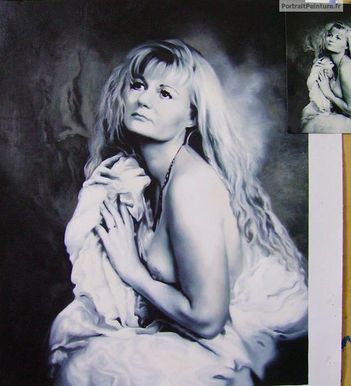 peinture-femme-nue-noir-et-blanc