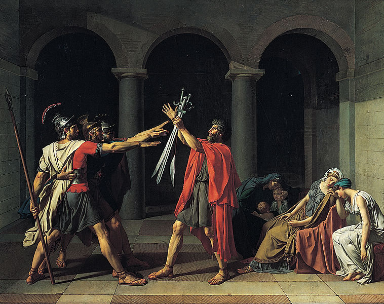 Peinture de Jacques Louis David : Le Serment des Horaces, 1784-1785