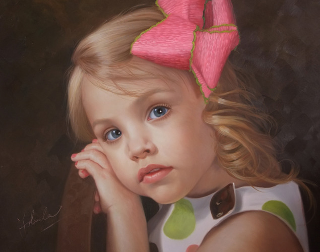 portrait-peinture-fillette-enfant-d-apres-photo