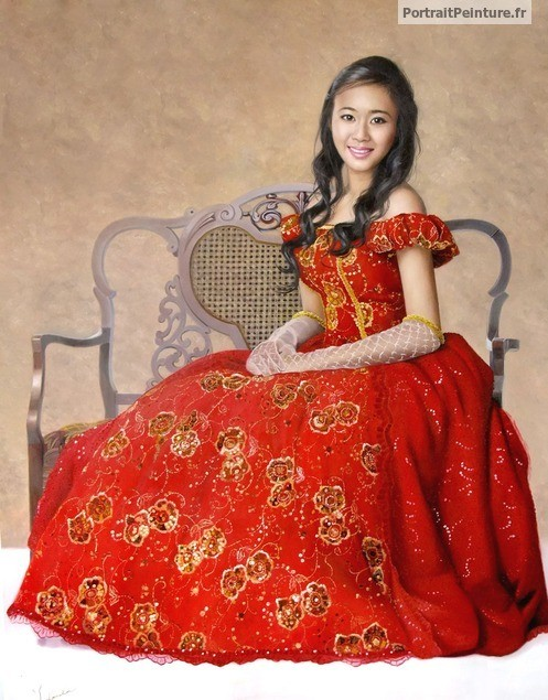 portrait-peinture-mariage-femme-magnifique-rouge