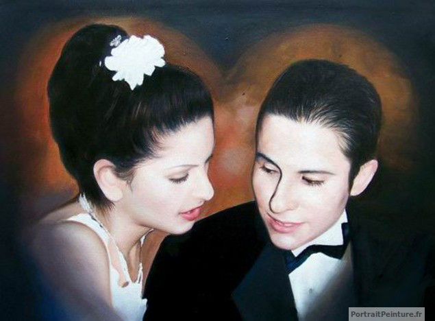portrait-mariage-peinture-original
