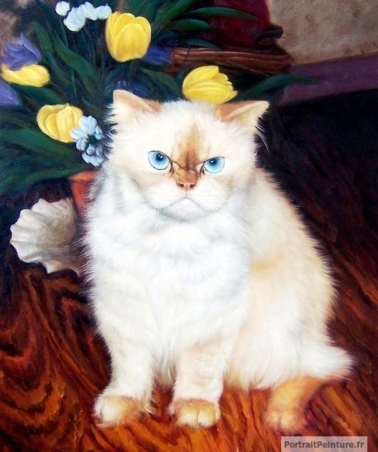 chat-peinture-portrait