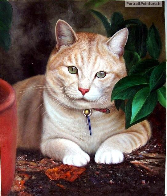 Tableau chat portrait 5 portrait peinture chat peintre