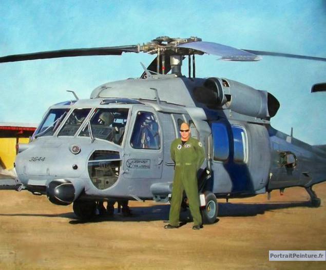 portrait-peinture-pilote-militaire
