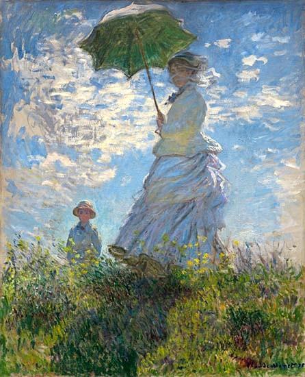 Monet-impressionnisme-Femme-avec-un-Parasol