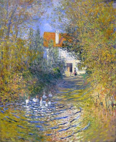 Monet-les-Oies-dans-le-ruisseau
