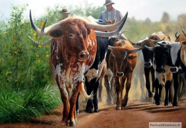 peintre-animalier-vache-peinture