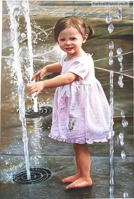 peinture-portrait-enfant-eau