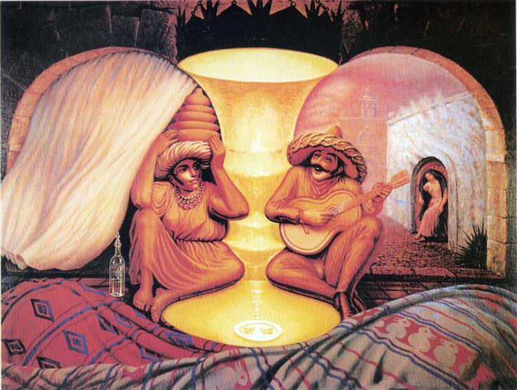 Peinture d'Octavio Ocampo, forever always