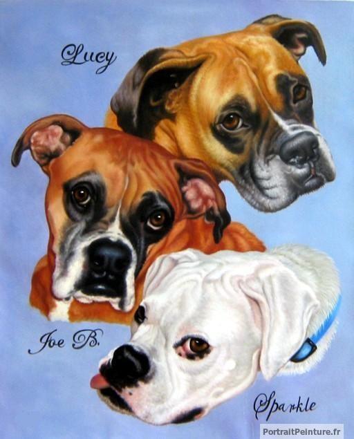 peinture-huile-montage-photo-chiens