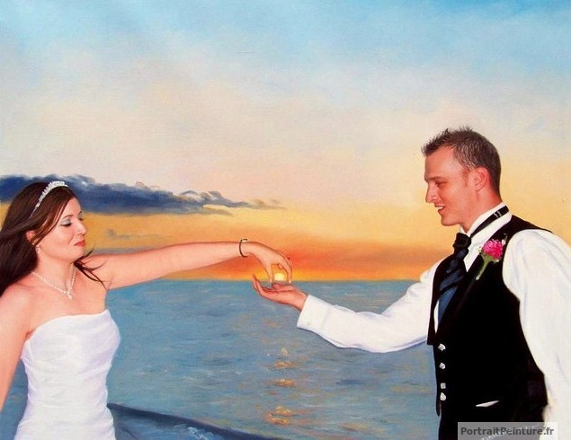 tableau-de-mariage-peinture-original