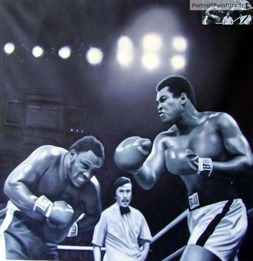 peinture-noir-et-blanc-sportif-boxe