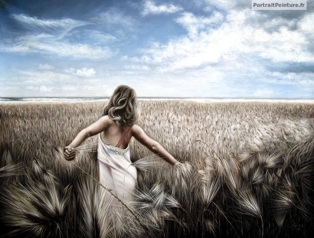 portrait-peinture-femme-apres-photo-tableau