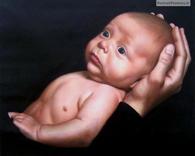 peinture-avec-bebe-main-papa