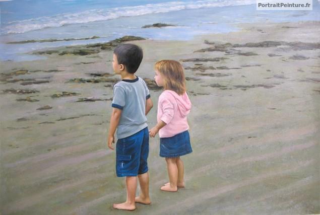portraits-enfant-peinture-huile