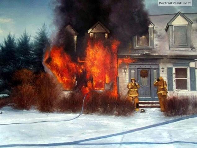 portrait-peinture-homme-pompier-tableau