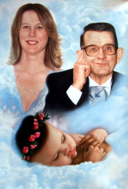 portrait-peinture-deces-deuil-enfant-famille