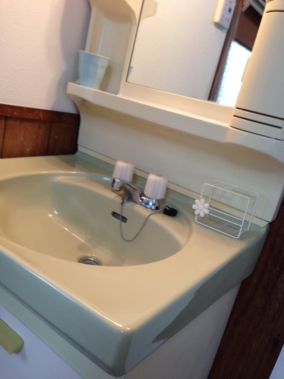 洗面化粧台のアップ