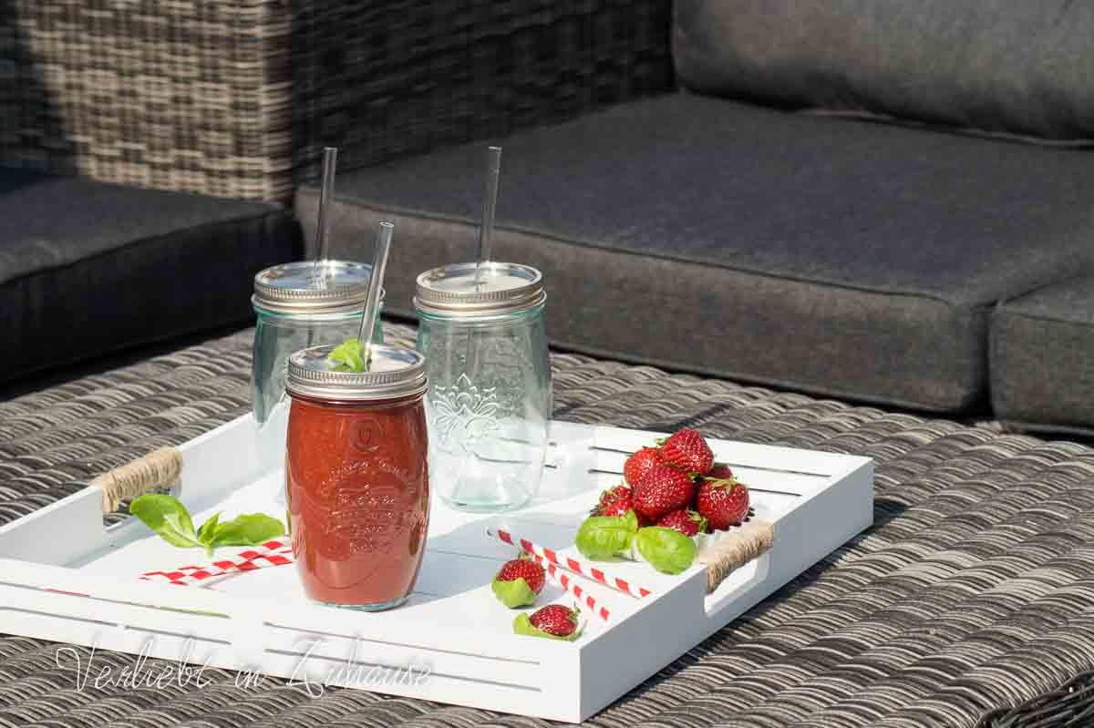 smoothie glas verliebt in zuhause online shop home. Black Bedroom Furniture Sets. Home Design Ideas