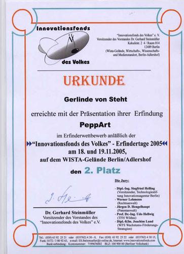 Erfinderpreis für PeppART